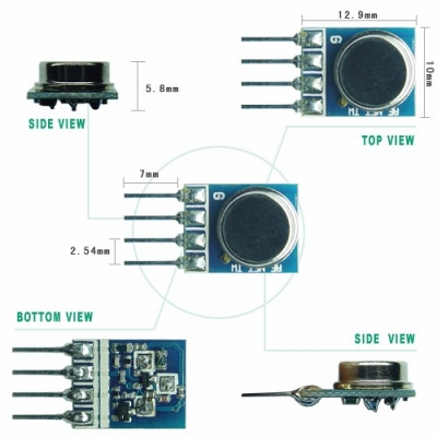 TWS-DS Wireless RF Transmitter Module