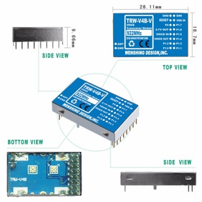 TRW-V4B-V 922MHz 雙向聲音高頻模組