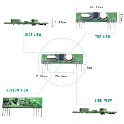 RWS-436 Wireless Super-heterodyne Receiver Module