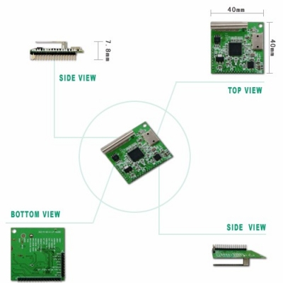 WS-AUDIO24-0005-TX 2.4GHz Wireless Audio Transmitter Module