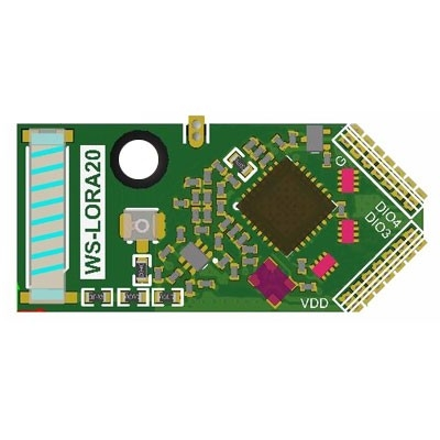 TRW-LORA20 LoRa 410~525MHz高感度功耗低雙向模組